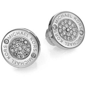 Michael Kors Earrings Silver Pave Studs New